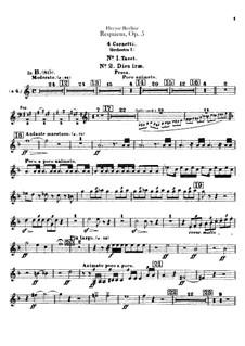 Grosse Totenmesse (oder Requiem), H.75 Op.5: Kornette- und Trompettenstimmen by Hector Berlioz