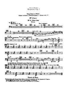 Grosse Totenmesse (oder Requiem), H.75 Op.5: Schlagzeugstimmen by Hector Berlioz
