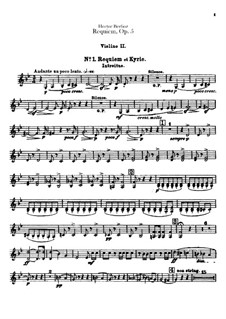 Grosse Totenmesse (oder Requiem), H.75 Op.5: Violinstimme II by Hector Berlioz