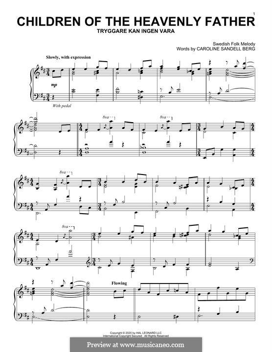 Children of the Heavenly Father: Für Klavier by folklore