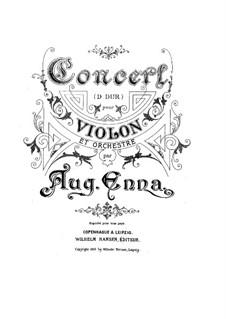 Violinkonzert in D-Dur: Version für Violine und Klavier by August Enna