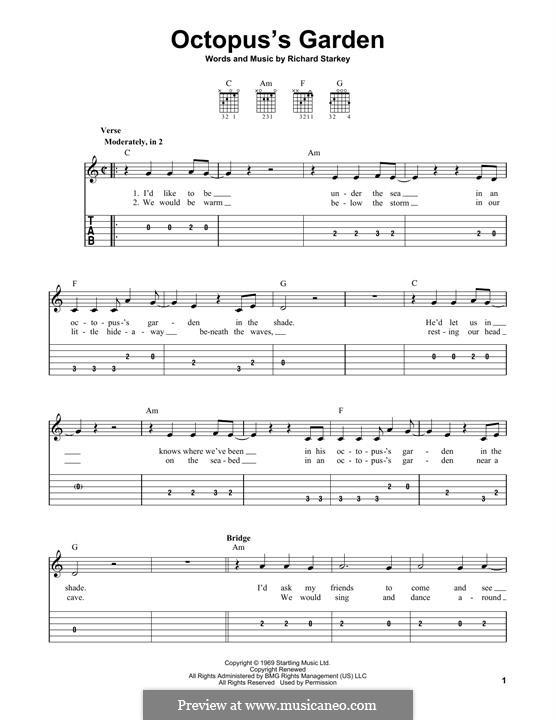 Octopus's Garden (The Beatles): Für Gitarre by Ringo Starr