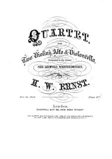 Streichquartett in B-Dur: Streichquartett in B-Dur by Heinrich Wilhelm Ernst