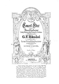 Concerto Grosso Nr.2 in F-Dur, HWV 320: Vollpartitur by Georg Friedrich Händel