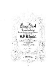 Concerto Grosso Nr.10 in d-Moll, HWV 328: Vollpartitur by Georg Friedrich Händel
