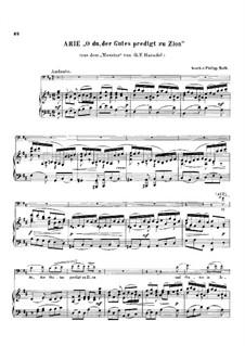 Nr.9 O du, der Gutes predigt zu Zion: Für Cello und Klavier by Georg Friedrich Händel