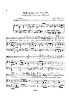Judas Makkabäus, HWV 63: Komm', süsse Freiheit, für Cello und Klavier by Georg Friedrich Händel