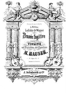 Pensée fugitive für Violine und Klavier, Op.57: Solostimme by Miska Hauser