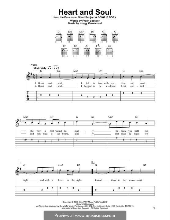 Heart and Soul: Für Gitarre by Hoagy Carmichael