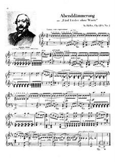 Album für die Jugend, Op.138: Nr.3 Abenddämmerung by Stephen Heller