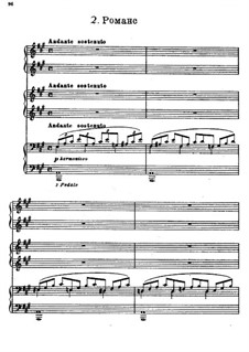 Two Pieces, for Piano Six Hands: Romanze by Sergei Rachmaninoff