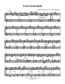 Carol of the Bells: Für Klavier by Mykola Leontovych