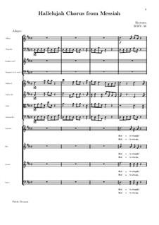 Nr.44 Halleluja: Vollpartitur by Georg Friedrich Händel