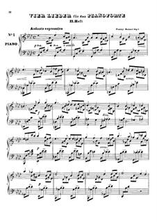 Vier Lieder für Klavier, Heft II, Op.6: Vier Lieder für Klavier, Heft II by Fanny Cäcilie Mendelssohn-Bartholdy