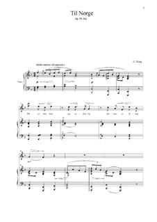 Norge, Op.58: No.2 Til Norge by Edvard Grieg