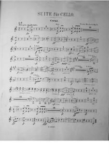 Suite für Cello und Orchester, Op.3: Hornstimme by Victor Herbert