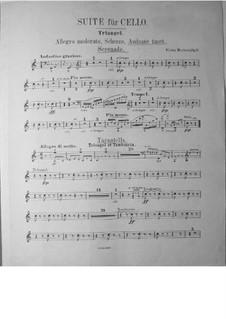 Suite für Cello und Orchester, Op.3: Triangel- und Tamburinstimme by Victor Herbert