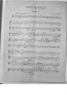 Suite für Cello und Orchester, Op.3: Violinstimme I by Victor Herbert