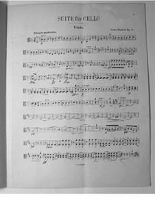Suite für Cello und Orchester, Op.3: Violastimme by Victor Herbert