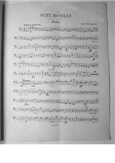 Suite für Cello und Orchester, Op.3: Kontrabass-Stimme by Victor Herbert