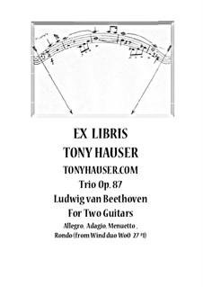 Trio für zwei Oboen und Englischhorn, Op.87: Arrangement for two guitars by Ludwig van Beethoven
