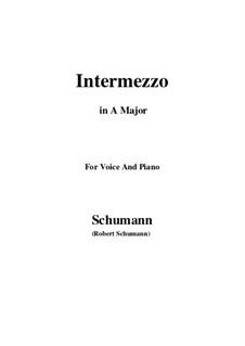 Nr.2 Intermezzo: A-Dur by Robert Schumann