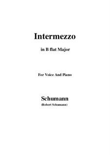 Nr.2 Intermezzo: B flat Major by Robert Schumann