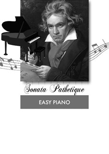 Teil I: Thema (easy piano) by Ludwig van Beethoven