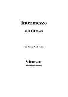 Nr.2 Intermezzo: D flat Major by Robert Schumann