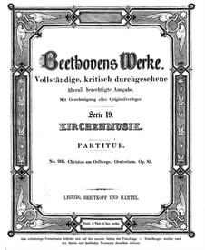 Christus am Ölberge, Op.85: Vollpartitur by Ludwig van Beethoven