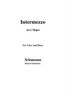 Nr.2 Intermezzo: G Major by Robert Schumann