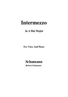 Nr.2 Intermezzo: A flat Major by Robert Schumann