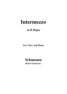 Nr.2 Intermezzo: B Major by Robert Schumann