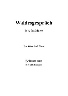 Nr.3 Waldesgespräch: A flat Major by Robert Schumann