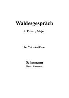 Nr.3 Waldesgespräch: F sharp Major by Robert Schumann