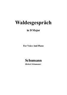 Nr.3 Waldesgespräch: D Major by Robert Schumann