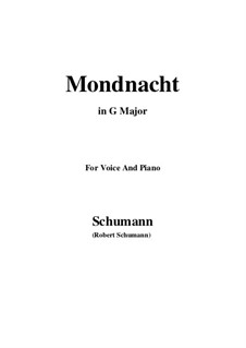 Nr.5 Mondnacht: G Major by Robert Schumann