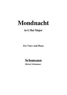 Nr.5 Mondnacht: G flat Major by Robert Schumann