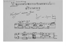 Stück zum Neuen Jahr (1975): Zweites Autograph by Ernst Levy