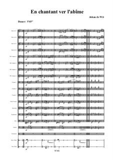 En Chantant vers l`Abime: Partitur by Johan de Wit