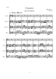 Concerto No.1 C-dur: Score, parts by Michał Bylina
