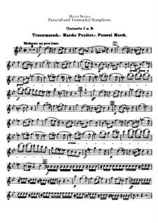 Grand Funeral and Triumphal Symphony, H.80 Op.15: Klarinetten in B und Bassklarinettenstimmen by Hector Berlioz