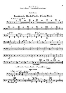 Grand Funeral and Triumphal Symphony, H.80 Op.15: Kontrabass-Stimme by Hector Berlioz