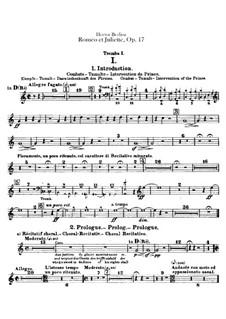 Romeo und Julie, H.79 Op.17: Trompete- und Kornettstimmen by Hector Berlioz