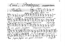 Circé: Bassstimme by Henri Desmarets