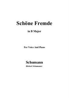 Nr.6 Schöne Fremde: B Major by Robert Schumann