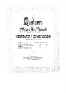 Srteichquartett Nr.3 in B-Dur, Op.33: Srteichquartett Nr.3 in B-Dur by Constantin Dimitrescu