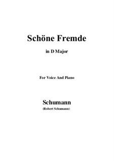 Nr.6 Schöne Fremde: D Major by Robert Schumann