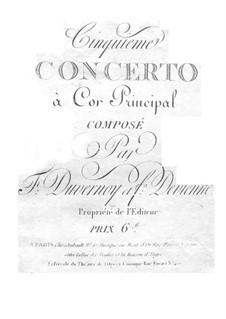 Konzert für Waldhorn und Orchester Nr.5 in F-Dur: Konzert für Waldhorn und Orchester Nr.5 in F-Dur by Frédéric Duvernoy