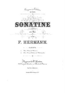 Sonatine für Violine (oder Cello) und Klavier in d-Moll, Op.28 No.2: Sonatine für Violine (oder Cello) und Klavier in d-Moll by Friedrich Hermann